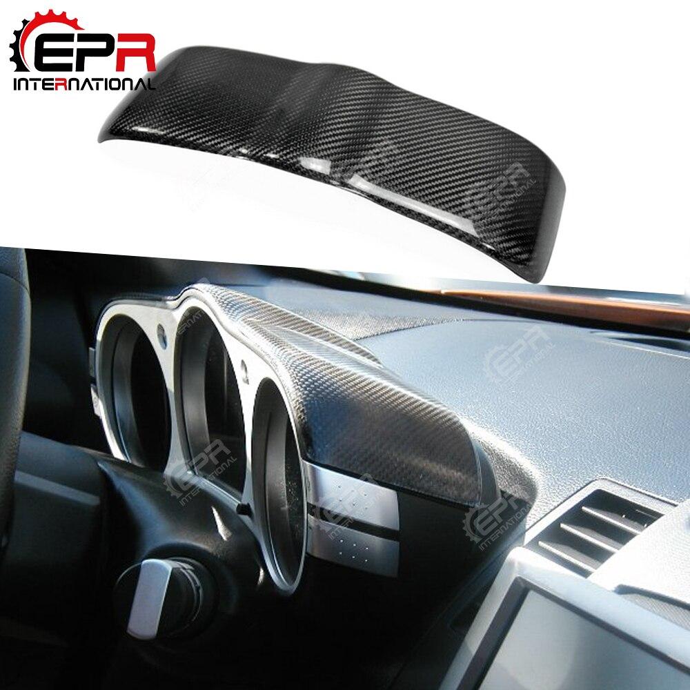 לניסן 350Z Z33 פחמן סיבי חיוג דאש כיסוי מבריק גימור פנימי להיסחף מירוץ מקשטים סיב פנים כוונון חלק גוף ערכת