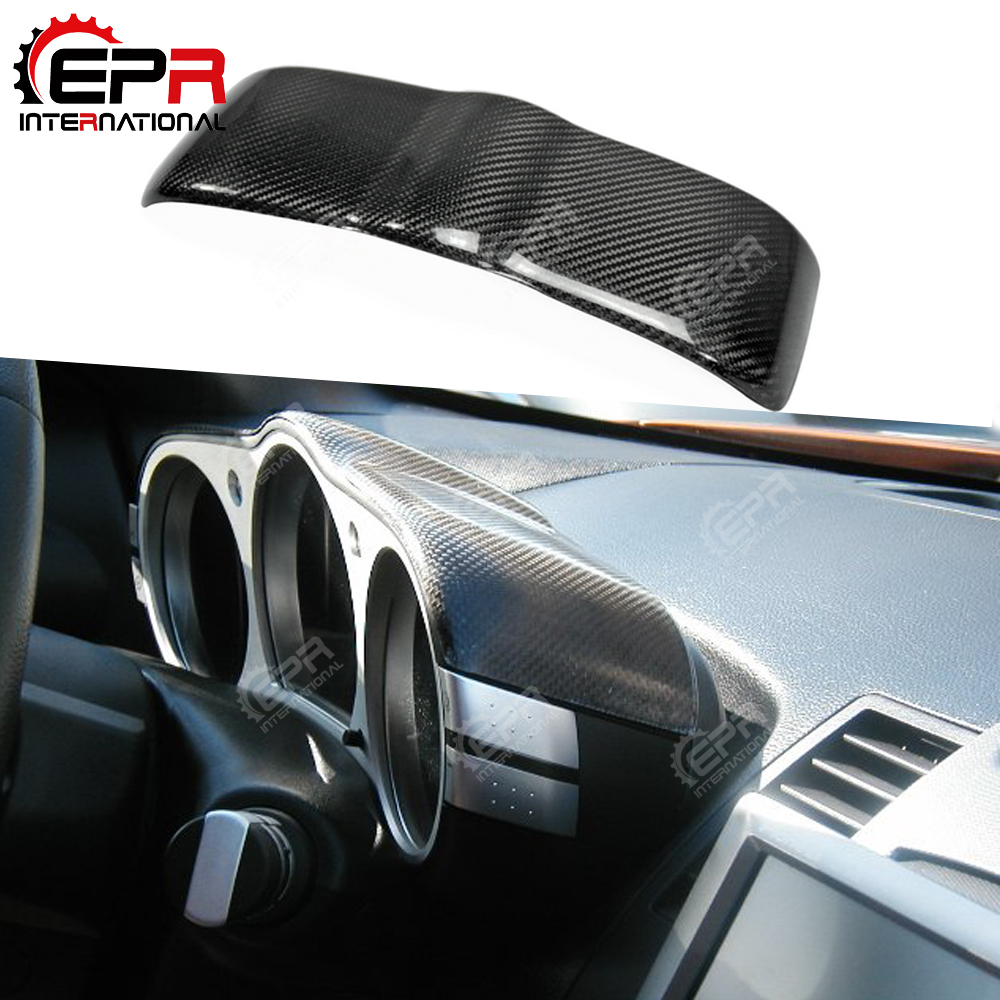 For nissan 350z z33 tuning carbon fiber dial dash cover - 350z carbon fiber interior trim kit ...