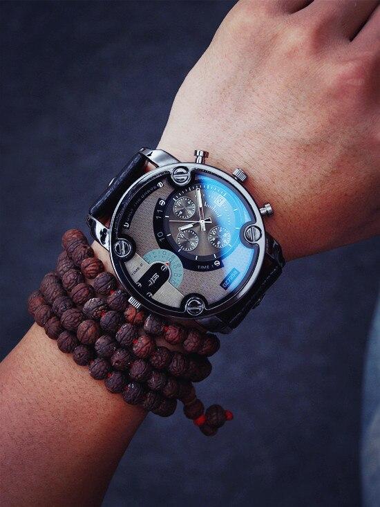 Divat órák férfi nagy tárcsázás luxus különleges design - Férfi órák