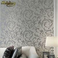 Beibehang papel parede Papel Parede Leaves Mural Wallpaper Rotolo argento dorato beige tessuto Non tessuto carta da parati 3D Stereoscopico Parete Pa