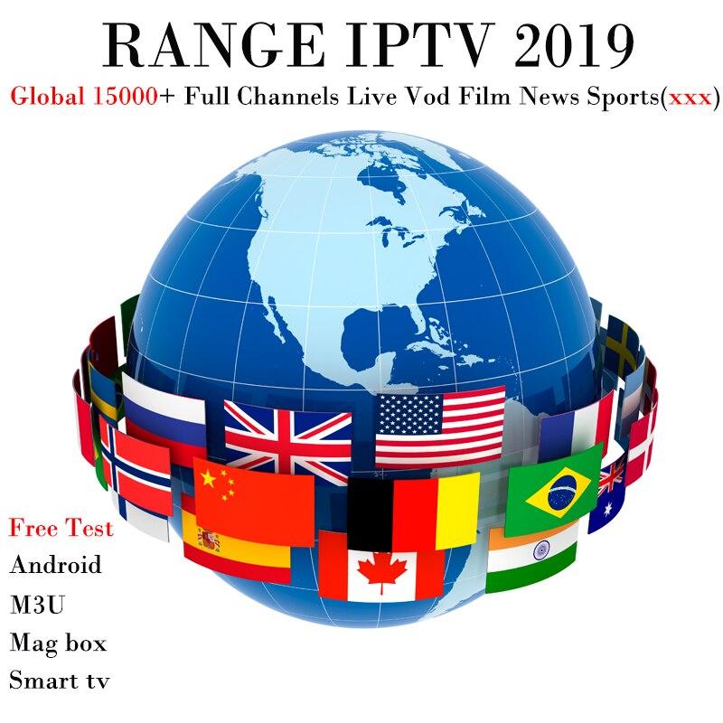 15000 Canaux GAMME IPTV Plein TV (Adulte xxx) l'europe Russe Inde Latino Néerlandais abonnement 1 Année Pour M3U Mag Smart TV Android