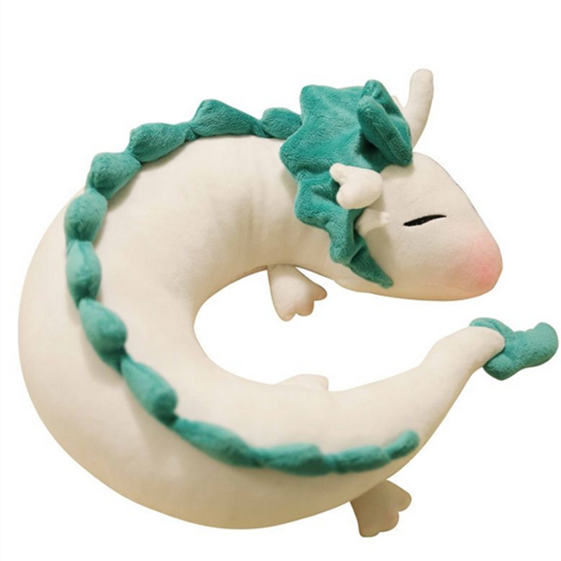 ZXZ 28cm Spirited Away U Pillow Kawaii Plush Toys Soft and Comfortable Animal Stuffed Toys Baby