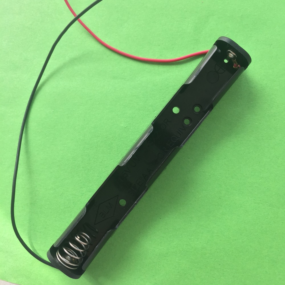 J417Y Straight Long Battery Junction Box Contain 2 AA Battery Series Connection 108mm Length DIY