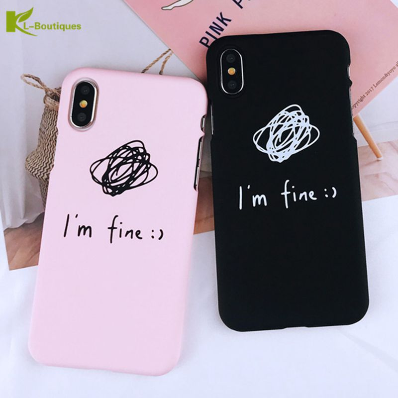 55733159ff Detail Feedback Questions about KL Boutiques Cartoon Hard Phone Case For  iPhone 8 Couple Cases For iPhone X 8 7 6 6S Plus Fashion Letter Printed  Matte Cover ...