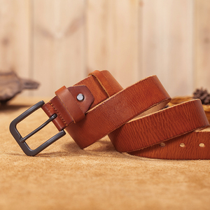Image 5 - VAMOS KATOAL men belt cow genuine leather luxury strap male belts for men classic vintage pin buckle cowskin belt dropshipping