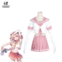 ROLECOS Game Fate Grand Order Cosplay Kostuum Astolfo Cosplay Kostuum Roze Korte Sexy Sailor Kostuums voor Vrouwen Cosplay Kostuum(China)