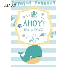 Laeacco Dolphin Backdrop Newborn Baby Show Portrait Photography Background Customized Photographic Backdrops For Photo Studio