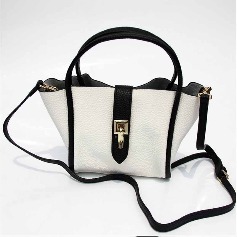 Ladies' Genuine Leather Handbag 2017 New Style Fashion Women Top-Handle Bags Noble Luxury Exquisite Shoulder Bag Female Totes luxury genuine leather bag fashion brand designer women handbag cowhide leather shoulder composite bag casual totes