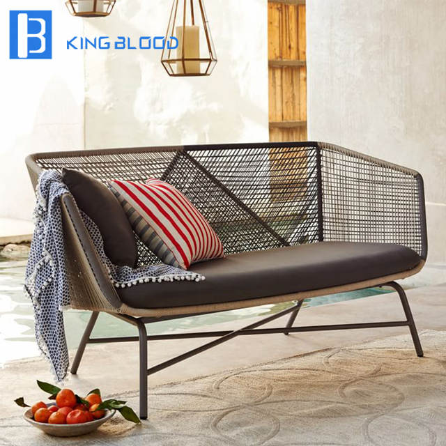 Us 600 0 Outdoor Patio Furniture Aluminum Frame Rope Woven Sofa Set In Garden Sofas From On Aliexpress 11 Double Singles Day