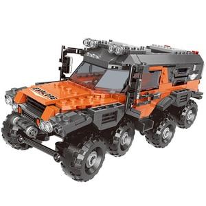 Image 5 - 500 + pcs רכב סדרת טרקטורון סט בניין בלוקים לבני מודל צעצועים לילדים חינוכיים מתנות תואם עם בלוק