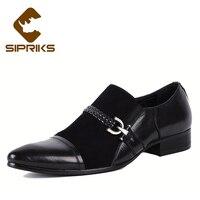Sipriks Mens Black Leather Moccasin Unique Designer Hipster Slip On Dress Shoes Boss Formal Tuxedo Grooms