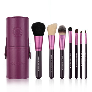 Image 3 - Zoreya Brand 7Pcs Black Natural Goat Hair Lip Professional Makeup Brushes Blush Powder Foundation Eye Shadow Makeup Tools Wool