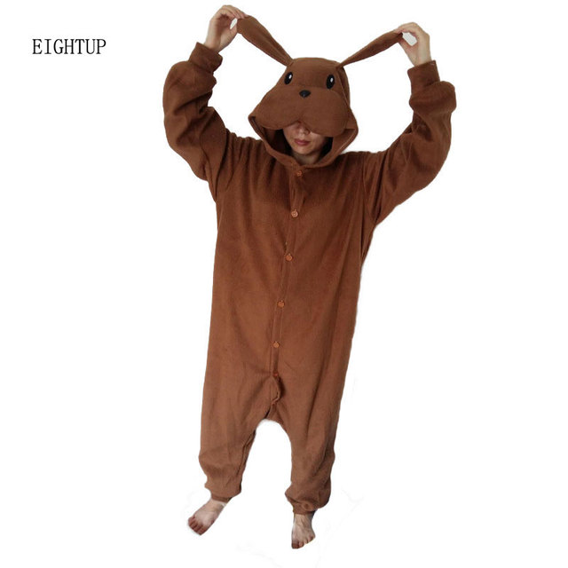e136b79b9f Animal Pyjamas Cosplay Costume Brown Dog Onesie Adult Unisex Cosplay Costume  Pajamas Sleepwear For Men Women