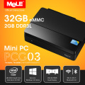 Fanless Intel Mini PC MeLE PCG03 2GB DDR3 32GB eMMC Intel Bay Trail Z3735F Windows 10 Home HDMI VGA LAN WiFi Bluetooth 4.0
