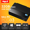 Fanless Intel Quad Core Mini PC com VGA MeLE PCG03 Ultra HD 4 K HDMI 1.4 LAN wi fi Bluetooth 2 G RAM 32 G ROM oficial Windows 8.1