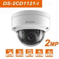 Hik DS 2CD1121 I Original English webcam replace DS 2CD2125F IS 2MP Mini Dome IP Camera POE Firmware Upgradeable CCTV Camera