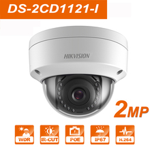 Hikvision DS-2CD1121-I  2MP Mini Dome POE IP Camera Home/Outdoor Security Surveillance Night Vision H.265 ONVIF Support P2P цена
