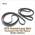 POWGE 700/710/738/750/752/760/782/784 2GT зубчатый ремень W = 3/6/9 мм GT2 синхронный ремень с замкнутым контуром 760-2GT 710-2GT 752-2GT