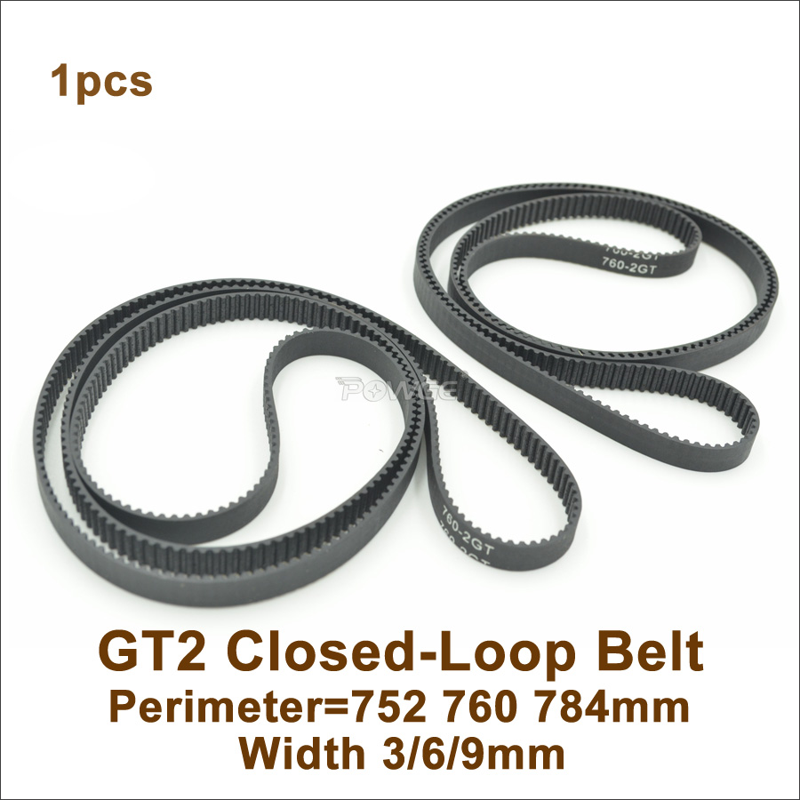 POWGE 700/710/738/750/752/760/782/784 2GT Timing Belt W=3/6/9mm GT2 Closed-Loop Synchronous Belt 760-2GT 710-2GT 752-2GT