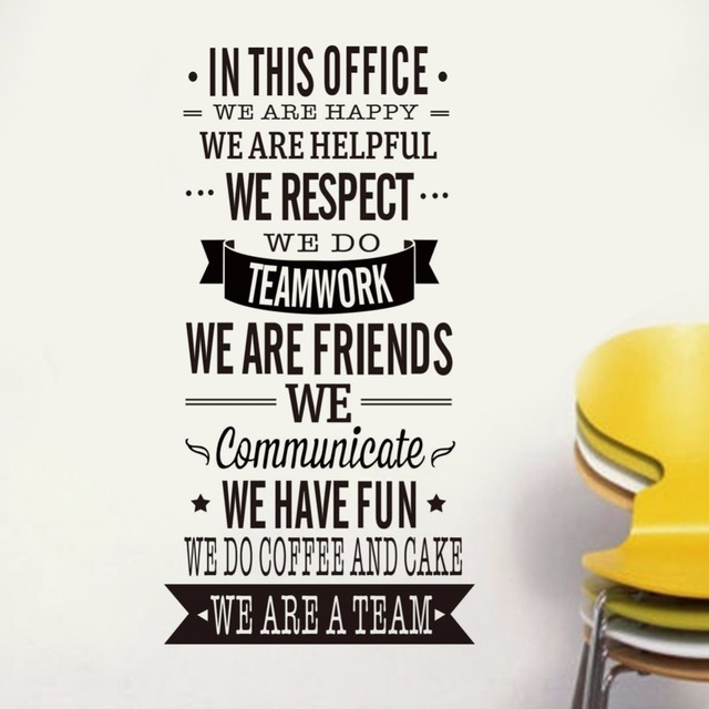 IN THIS OFFICE Vinyl Quotes Wall Decal Home Decor