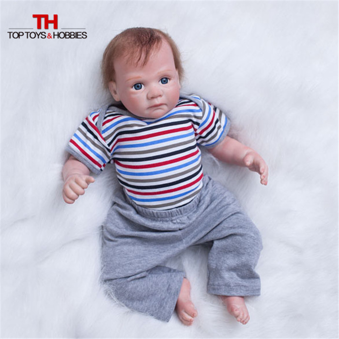 20 Inch America Toddler Doll Newborn Bebe Dolls Silicone Vinyl Baby Boy Realistic Soft Reborn Dolls Gift for Children