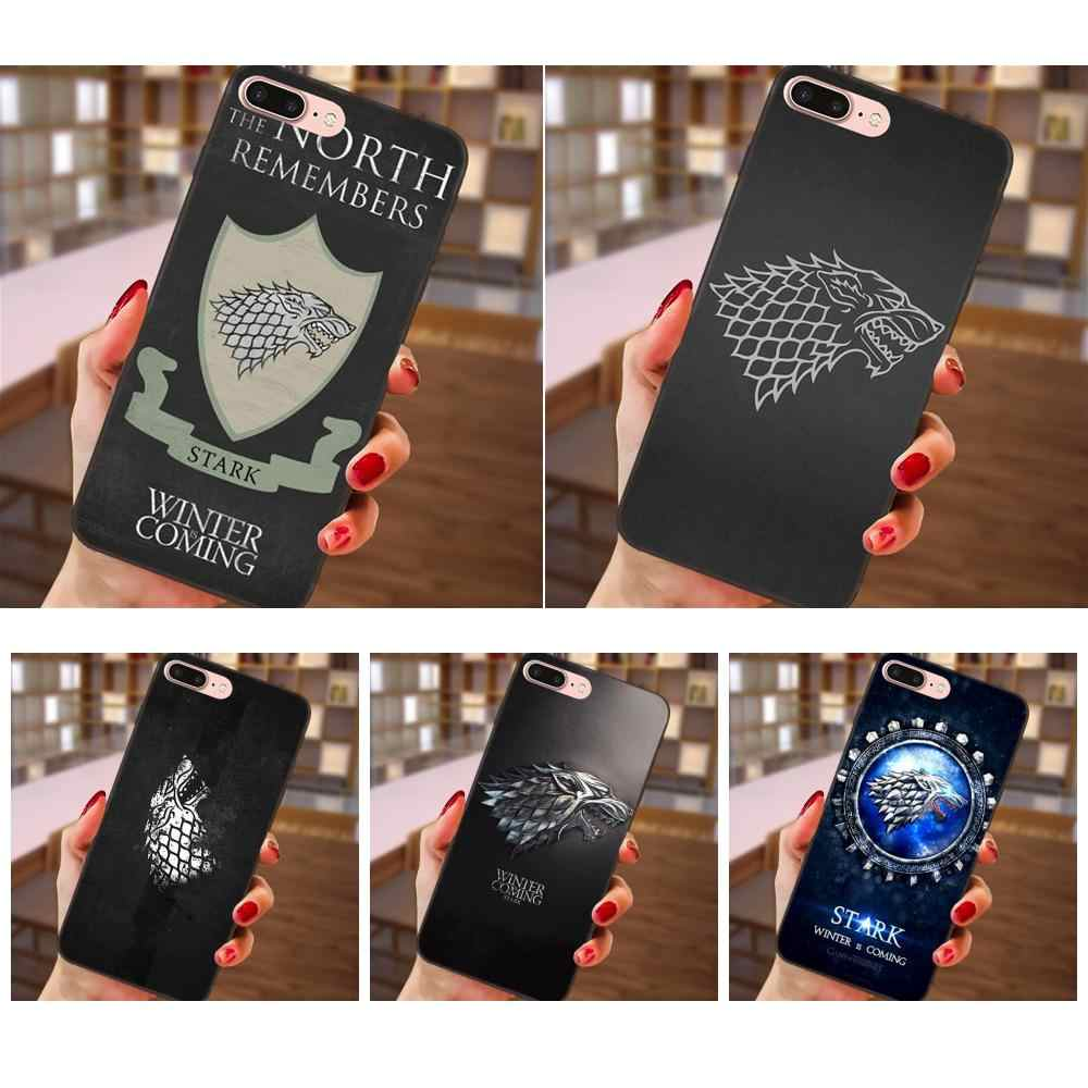 Games Of Thrones House Stark Soft Design Customized For Samsung Galaxy A3 A5 A6 A6s A7 A8 A9 Star Plus 2016 2017 2018