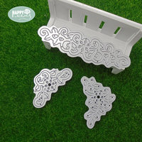 Happymems Metal Cutting Dies Card Making DIY Crafts Embellishments Scrapbooking Home Decoration Silver Cutting Dies Christmas