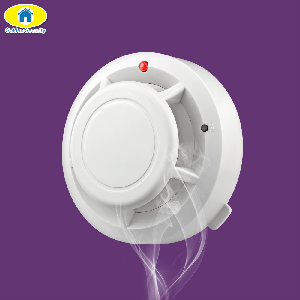 Golden Security High Wireless Alarm Security Smoke Fire Detector 80dB Home Security System for Home Store Smoke Alarm Sensor wireless smoke fire detector smoke alarm for touch keypad panel wifi gsm home security system without battery