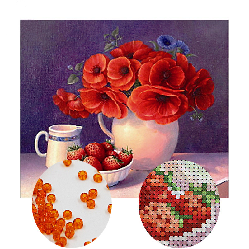 Needlework,DIY bead Cross stitch,Embroidery stitch still life,women Precise Printed floral Pattern cross stitchNeedlework,DIY bead Cross stitch,Embroidery stitch still life,women Precise Printed floral Pattern cross stitch
