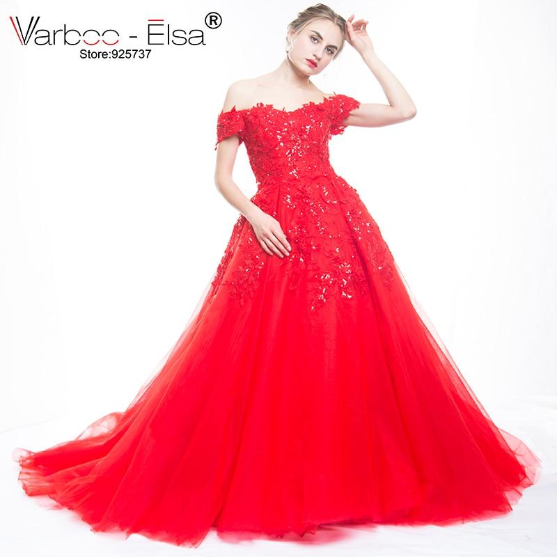 Bling Bling vestidos de noche rojos largo apliques de novia con - Vestidos para ocasiones especiales