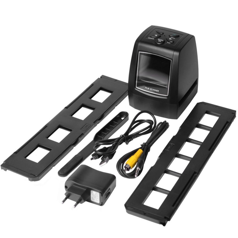 цена на High Fast Photo Printe Resolution Photo Scanner 35mm/135mm Slide Film Scanner Digital USB Film Converter 2.36 LCD screen
