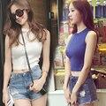 2016 nova coreano mulheres pullover verão Fino grandes estaleiros feminino hedging camisola colete suéter colete em torno do pescoço de lã doces coloridos colete
