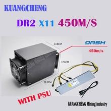 Envío libre X11 Dr2 450 M Minero Asic minero 450 M PinIdea 450MH Dash PinIdea Dr2 450 M Dashcoin Minero Minero con el PODER SUMINISTRO