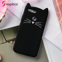 Soaptree Case For Huawei Honor 7X Cases 3D Cute Cartoon Cat Ear Soft Silicone On The Protective Cover for Mate SE Funda
