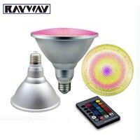 RAYWAY Par30 Par38 10 w 20 w RGB LED Spotlight Pode Ser Escurecido Lâmpada Guarda-chuva de alumínio & glass Lâmpada de Controle Remoto à prova d' água AC110V-220V