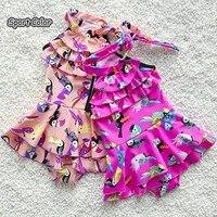 Summer New Design Kids Swimsuit Quality Girls Swimwear Teenagers One pieces Lovely Birds Bath Suit Infant Children Beachwear