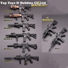 цена на 1/6 Scale mini times toys 1/6 HK416 series M4 series Rifle Gun Weapon Model Toys F 12