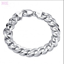 New S925 sterling silver mens bracelet 2019 fashion jewelry couple for men and women
