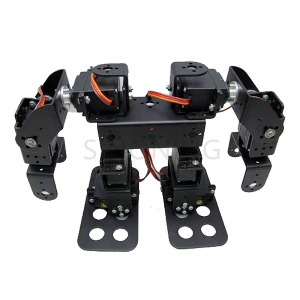 8 DOF Humanoid Robot Walking Bipedal Steering Gear Bracket Part Including Servo8 DOF Humanoid Robot Walking Bipedal Steering Gear Bracket Part Including Servo