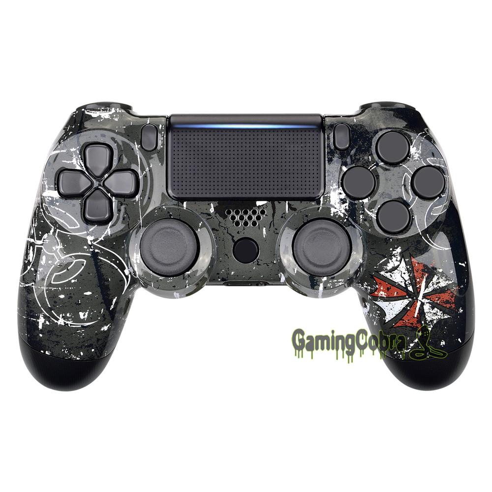 Biohazard Tyrant Pattern Top Front <font><b>Shell</b></font> Faceplate Repair Kit for PS4 Pro Slim Controller <font><b>JDM</b></font>-040 <font><b>JDM</b></font>-050 <font><b>JDM</b></font>-<font><b>055</b></font> - SP4FT26 image