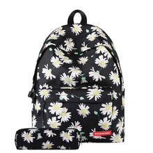 Printed school bag middle student casual backpack travel bags college wind back pack