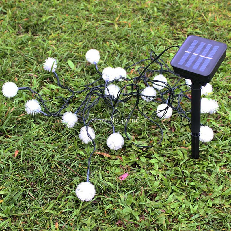 4.8m Solar Lamp Led Solar Lights Outdoor For Garden Decoration Waterproof Snowflake Solarne Lampy Lamparas Solares Exterior