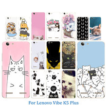 Phone Case for Lenovo Vibe K5 Back Cover K5 Plus Lemon 3 A6020 Bag Luck Cat Pattern Soft TPU Silicon Gel For Lenovo A 6020 Coque(China)