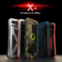 R JUST Phone Case For IPhone 8 8 Plus X AMIRA Luxury Hard Metal Armor Shockproof