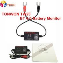10 шт. DHL TONWON TW20 12 V Батарея тестер Bluetooth 4,0 Батарея Напряжение Батарея Беспроводной анализатор зарядки Системы монитор Цифровой