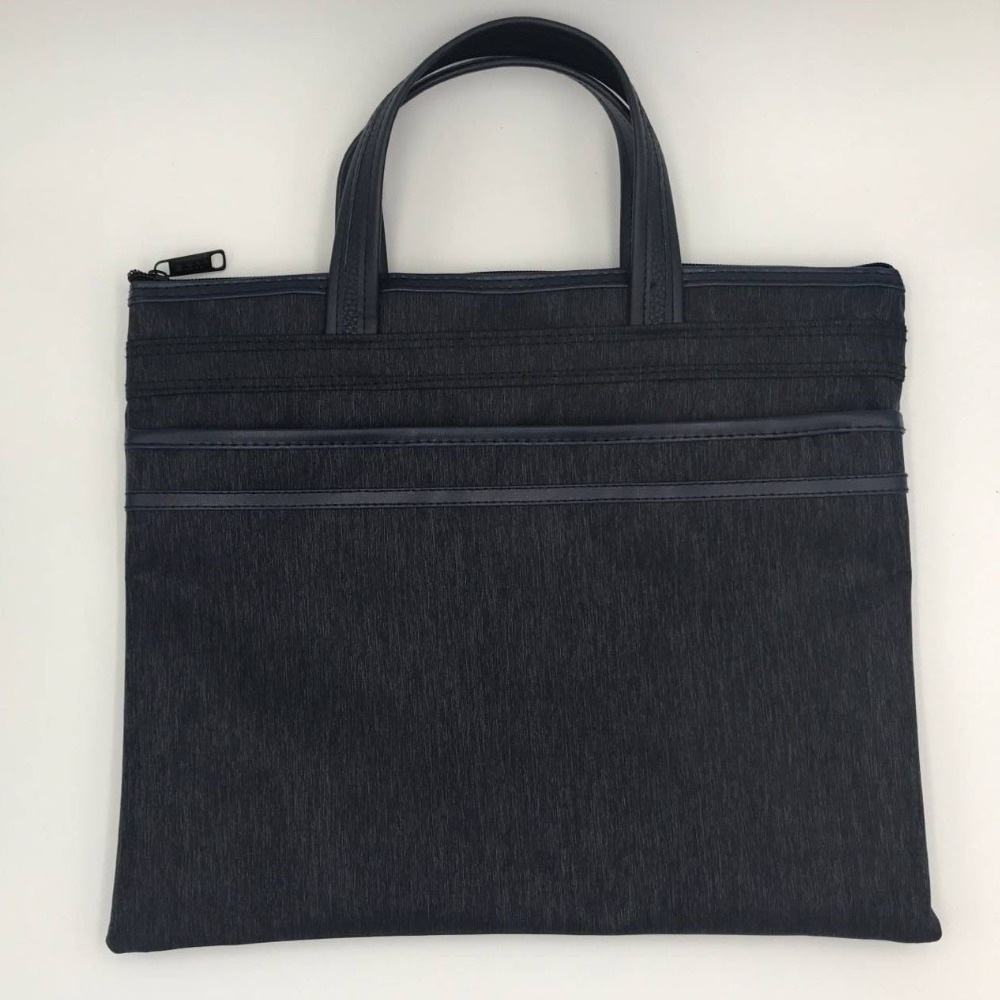 A4 Portable Canvas File Bag, Meeting And Training Special File Bag And Briefcase, LOGO Printing Size Customization