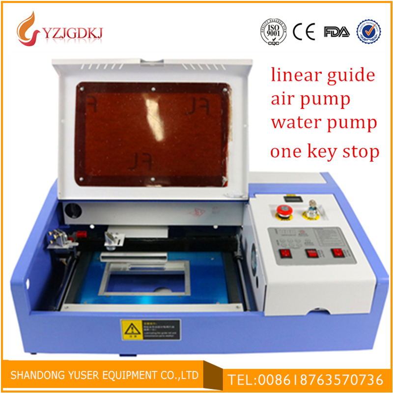 Polymer Rubber Stamp Laser Engraving Machine 3020 40W Free Shipping