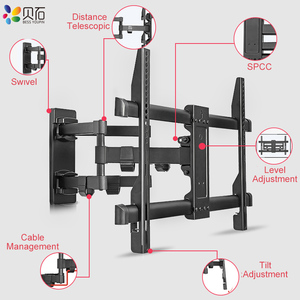 "Image 2 - Full Motion Retractable LCD Bracket TV Wall Mount Tilting Swivel Wall Stand Adjustable Mount Arm Fit for 32 70"" Max Support 50kg"