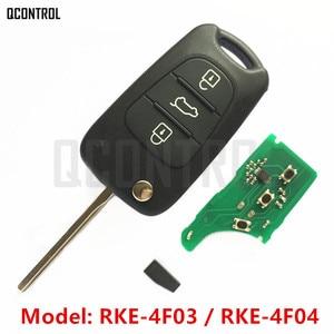 QCONTROL Remote Key for KIA K2/Rio/K3/Forte/Cerato/K5/Optima/Sportage/Carens/Rondo/Sorento/Soul RKE-4F03 or RKE-4F04