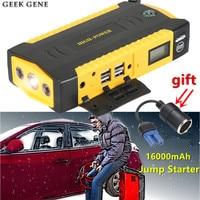 New Multi Function 69800mAh Car Jump Starter 4USB Power Bank 800A Peak Current Emergency Car Battery